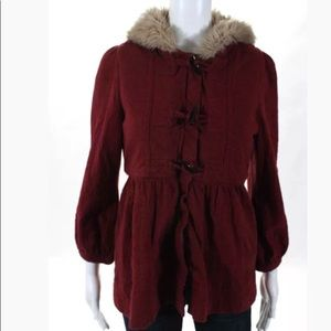 *AVAILABLE*Marc jacobs lined hooded fauxfur jacket